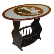 Fan Creations NCAA Glass End Table; Florida State