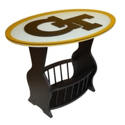 Fan Creations NCAA Glass End Table; Georgia Tech
