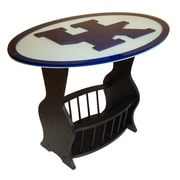 Fan Creations NCAA Glass End Table; Kentucky