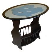 Fan Creations NCAA Glass End Table; North Carolina