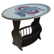 Fan Creations NCAA Glass End Table; Ohio State