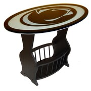 Fan Creations NCAA Glass End Table; Penn State