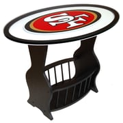 Fan Creations NFL Logo End Table; San Francisco 49ers