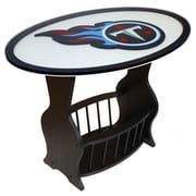 Fan Creations NFL Logo End Table; Tennessee Titans