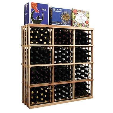 Wine Cellar Vintner Series 180 Bottle Floor Wine Rack; Unfinished