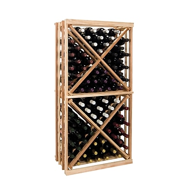 Wine Cellar Vintner Series 96 Bottle Floor Wine Rack; Classic Mahogany