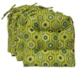 Blazing Needles All-weather UV Resistant U-shape Patio Chair Cushion (Set of 4); Avocado