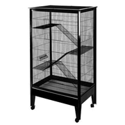 A&E Cage Co. Large 4-Level Small Animal Cage; Black