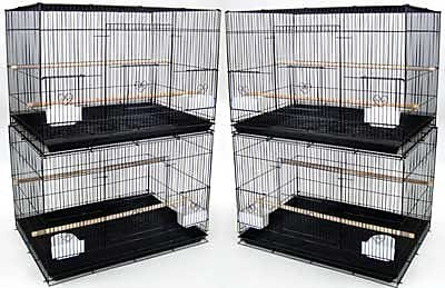 YML Lot of Four Medium Bird Cage (Set of 4); White WYF078276471167