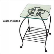 Grace Venetian End Table; Gun Metal