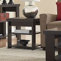Ameriwood Hollowcore End Table; Black Ebony Ash