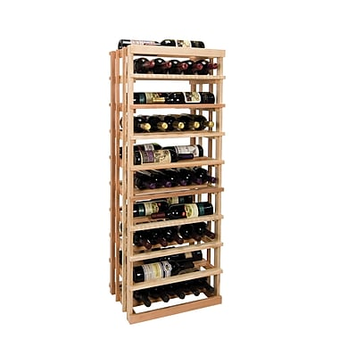 Wine Cellar Vintner Series 30 Bottle Floor Wine Rack; Dark Walnut