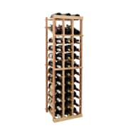Wine Cellar Vintner Series 36 Bottle Floor Wine Rack; Dark Walnut