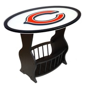 Fan Creations NFL Logo End Table; Chicago Bears
