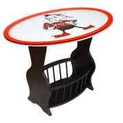 Fan Creations NFL Logo End Table; Cleveland Browns