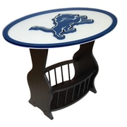 Fan Creations NFL Logo End Table; Detroit Lions
