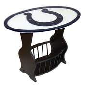 Fan Creations NFL Logo End Table; Indianapolis Colts