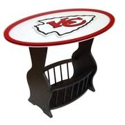 Fan Creations NFL Logo End Table; Kansas City Chiefs