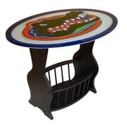 Fan Creations NCAA Glass End Table; Florida Gators