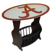 Fan Creations NCAA Glass End Table; Alabama