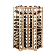 Wine Cellar Vintner Series 44 Bottle Floor Wine Rack; Unfinished