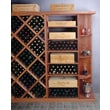 Wine Cellar Designer Series Quarter Round Shelf; Classic Stained Premium Redwood