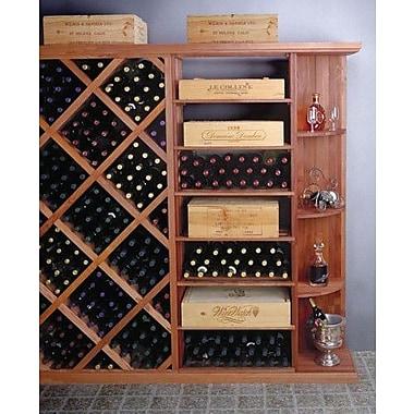 Wine Cellar Designer Series 4 Bottle Floor Wine Rack; Dark Stained Premium Redwood