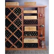 Wine Cellar Designer Series 4 Bottle Floor Wine Rack; Classic Stained Premium Redwood