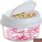 Baby Milano Camo 12 Oz. Single Canister Snack Container; Pink