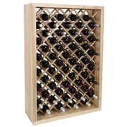 Wine Cellar Vintner Series 58 Bottle Wine Rack; Dark Walnut