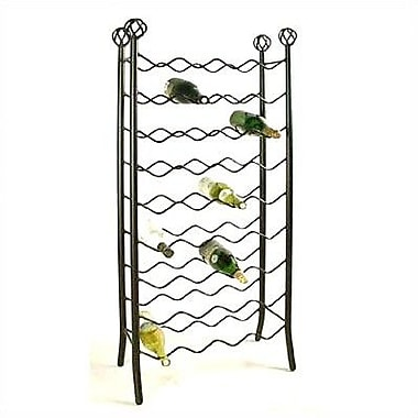 Grace 36 Bottle Floor Wine Rack; Antique Bronze