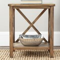 Safavieh Candence End Table; Oak
