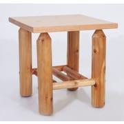 Moon Valley Rustic End Table; Amber Varnish