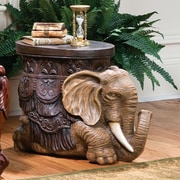 Design Toscano The Sultans Elephant Sculptural End Table