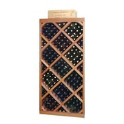 Wine Cellar Designer Series Diamond 212 Bottle Wine Rack; Unstained Premium Redwood