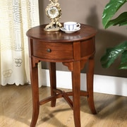 All Things Cedar Round Drawer End Table
