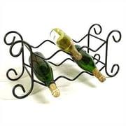 Grace 6 Bottle Tabletop Wine Rack; Antique Bronze