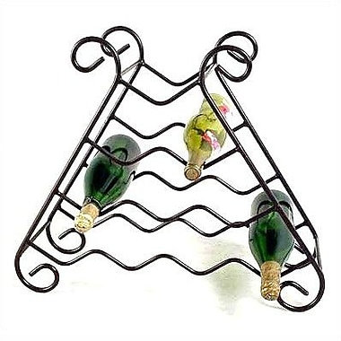 Grace 10 Bottle Tabletop Wine Rack; Gun Metal