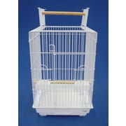 YML Open Top Small Parrot  Bird Cage; White