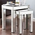 SEI Bacall Mirrored Accent 2 Piece Nesting Tables
