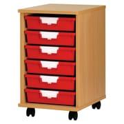Storsystem 6 Tray Standard Width Wood Cabinet; Primary Blue