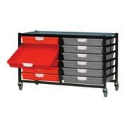 Storsystem 12 Tray Mobile Metal Extra Wide Rack; Primary Green
