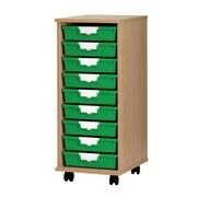 Storsystem 9 Tray Standard Width Wood Cabinet; Light Gray