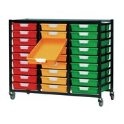 Storsystem 27 Tray Mobile Metal Rack; Primary Red