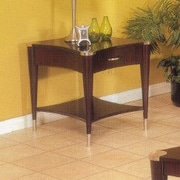 Alpine Furniture Sausalito End Table; An Espresso Finish