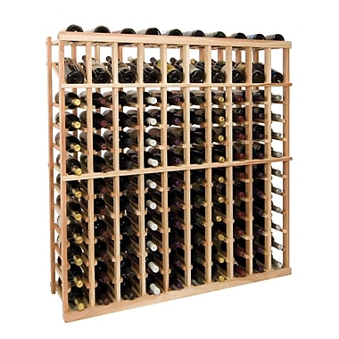 Wine Cellar Vintner Series 120 Bottle Floor Wine Rack; Dark Walnut