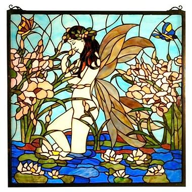 Meyda Tiffany Tiffany Fairy Pond Stained Glass Window