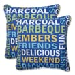 Pillow Perfect Grillin Throw Pillow (Set of 2); Navy