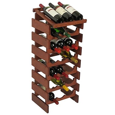 Wooden Mallet Dakota 21 Bottle Floor Wine Rack; Mahogany