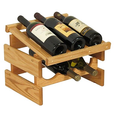 Wooden Mallet Dakota 6 Bottle Tabletop Wine Rack; Light Oak